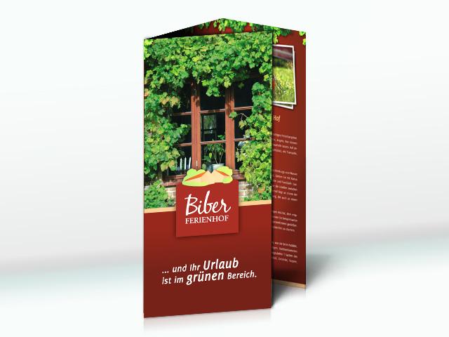 Biber Ferienhof Faltblatt