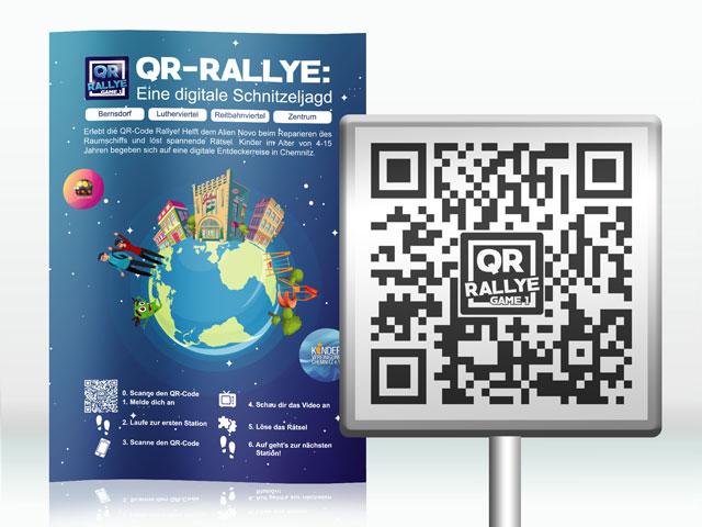 Qr-Rallye-Plakat-und-Roadsign